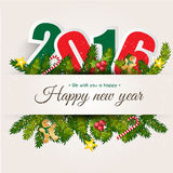 Happy New year 2016 celebration. Happy New year 2016  for card  background Royalty Free Stock Images