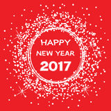 Happy new year 2017 celebration card, vector  Royalty Free Stock Photography