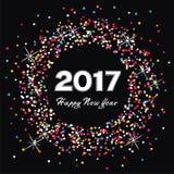 Happy new year 2017 celebration card, vector. Colorful background for happy new year 2017 celebration card, vector Stock Photos