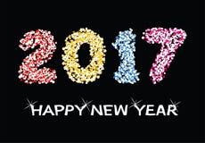 Happy new year 2017 celebration card, vector. Colorful background for happy new year 2017 celebration card, vector Royalty Free Stock Photo