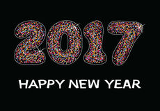 Happy new year 2017 celebration card, vector. Colorful background for happy new year 2017 celebration card, vector Royalty Free Stock Photos
