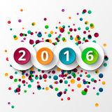 Happy new Year 2016 celebration. Royalty Free Stock Images