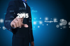 Happy New Year 2015. Celebration concept Stock Images