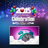 Happy New Year 2015. Celebration concept Royalty Free Stock Image