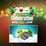 Happy New Year 2015. Celebration concept vector illustration