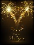 Happy New Year 2015 celebration concept. Beautiful greeting card design for Happy New Year 2015 celebration on fireworks night background Royalty Free Illustration