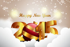 Happy New Year 2015 celebration concept Royalty Free Stock Photo