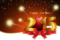 Happy New Year 2015 celebration concept Royalty Free Stock Image