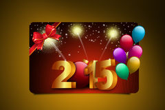 Happy New Year 2015 celebration concept. In color background Vector Illustration