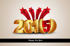 Happy New Year 2015 celebration concept Stock Photography