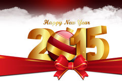 Happy New Year 2015 celebration concept. In color background Royalty Free Illustration