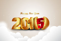 Happy New Year 2015 celebration concept Royalty Free Stock Images