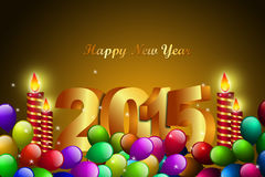 Happy New Year 2015 celebration concept. In color background Stock Illustration