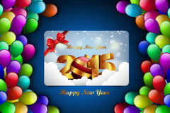Happy New Year 2015 celebration concept. In color background Stock Image