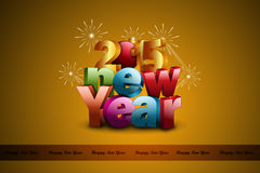 Happy New Year 2015 celebration concept Stock Images