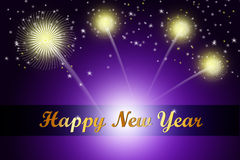 Happy New Year 2015 celebration concept. In color background Stock Images