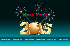 Happy New Year 2015 celebration concept Royalty Free Stock Photography