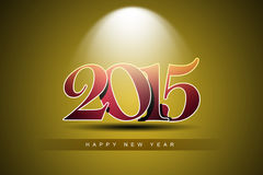 Happy New Year 2015 celebration concept Stock Photo