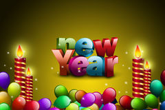 Happy New Year 2015 celebration concept Royalty Free Stock Photos