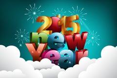 Happy New Year 2015 celebration concept Royalty Free Stock Image