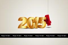 Happy New Year 2015 celebration concept Royalty Free Stock Photo