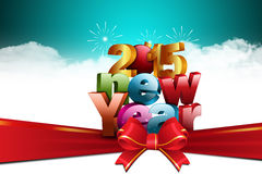 Happy New Year 2015 celebration concept Royalty Free Stock Photos