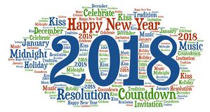 Happy New Year - New Year Celebration with cool wording stock photography