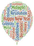 Happy New Year - New Year Celebration with cool wording Stock Image