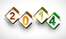 Happy New Year 2014 celebration. Design Stock Illustration
