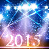 Happy new year 2015 celebration design. Easy editable Stock Illustration
