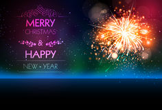 Happy New Year 2017 celebration fireworks. Brochure Stock Photo
