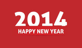 Happy new year 2014. Celebration greeting card Royalty Free Stock Image