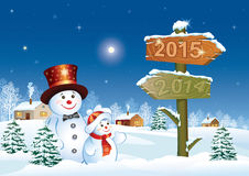 Happy New Year 2015. Celebration greeting card Royalty Free Stock Photos