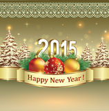 Happy new year 2015 celebration greeting card Royalty Free Stock Images