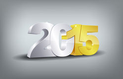 Happy new year 2015. Celebration greeting card design Stock Image