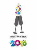 Happy new year 2016. Celebration greeting card design Royalty Free Stock Image