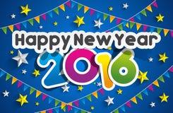 Happy new year 2016. Celebration greeting card design Stock Photo