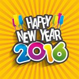 Happy new year 2016. Celebration greeting card design Stock Photo