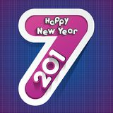 Happy new year 2017. Celebration greeting card design Royalty Free Stock Image