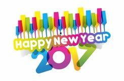 Happy new year 2017. Celebration greeting card design Royalty Free Stock Photos