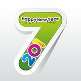 Happy new year 2017. Celebration greeting card design Royalty Free Stock Images