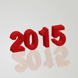 Happy new year 2015 celebration greeting card design. Stock Images