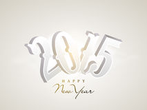 Happy New Year 2015 celebration greeting card. Greeting card design for Happy New Year 2015 celebration with shiny text on grey background Stock Photos
