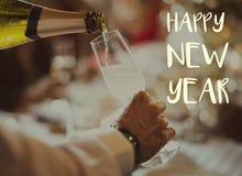 Happy New Year 2017 Celebration Greeting Concept stock photos