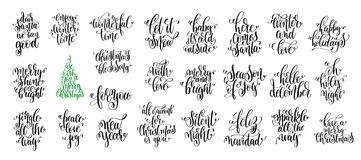 Happy new year celebration holidays hand lettering quotes Royalty Free Stock Image