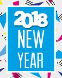 Happy new year celebration over figures background. Vector illustration Royalty Free Stock Photography