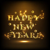 Happy New Year 2015 celebration poster design with shiny text. Stock Images