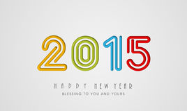 Happy New Year celebration with stylish text design. Royalty Free Stock Photography