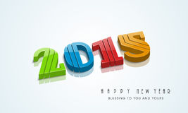 Happy New Year celebration with stylish text design. Happy New Year celebration with colorful text of 2015 and wishing message on stylish background Royalty Free Stock Photography