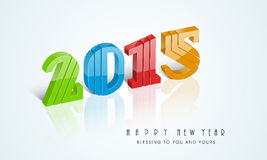 Happy New Year celebration with stylish text design. Happy New Year celebration with 3d text of 2015 and wishing message on stylish background Royalty Free Stock Photo
